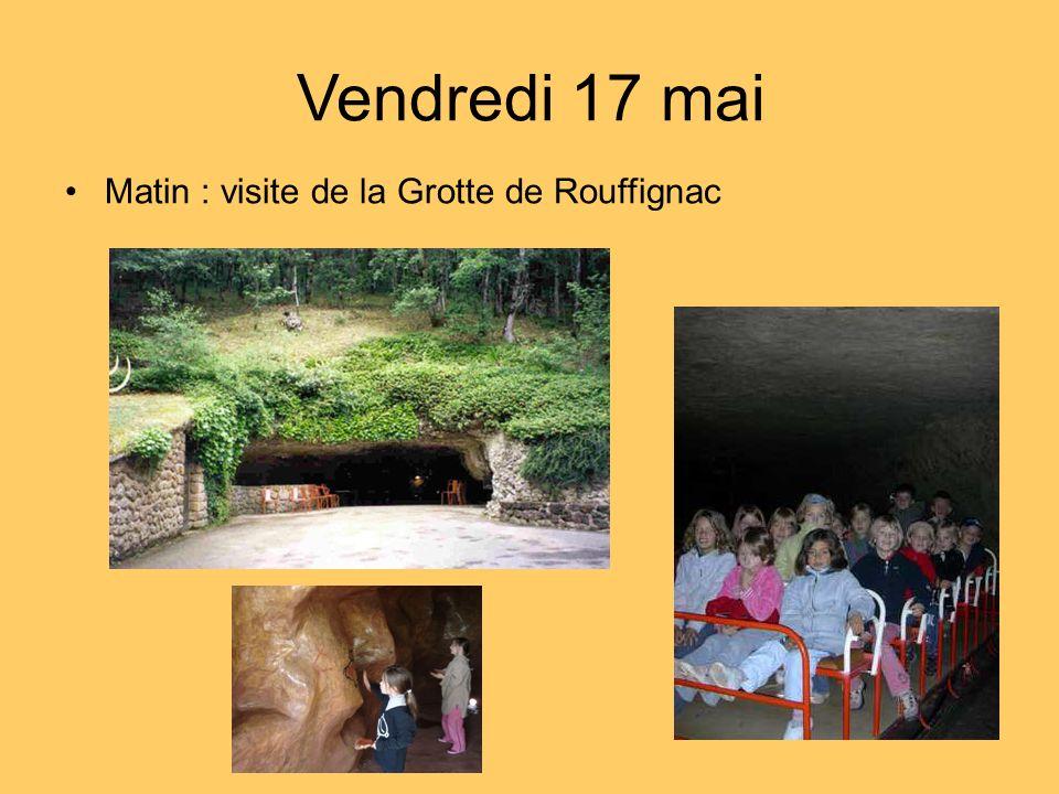 Matin : visite de la Grotte de Rouffignac