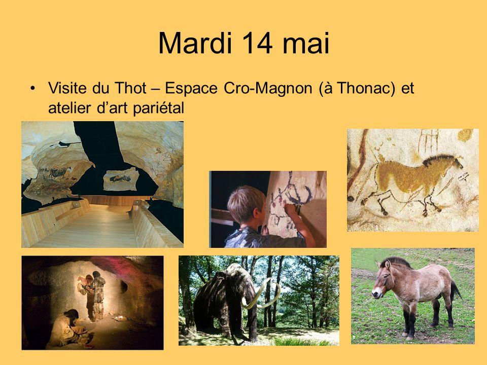 Visite du Thot – Espace Cro-Magnon (à Thonac) et atelier dart pariétal