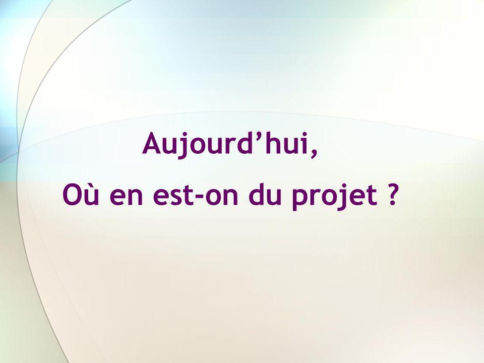 Aujourdhui, Où en est-on du projet ?