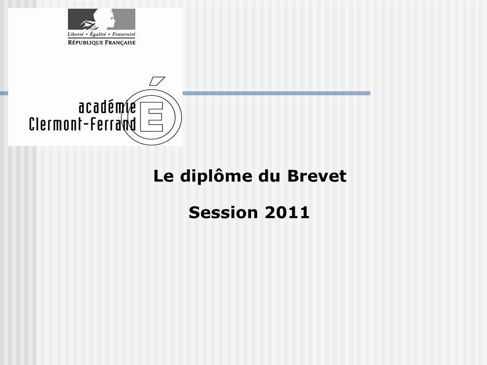 Le diplôme du Brevet Session 2011