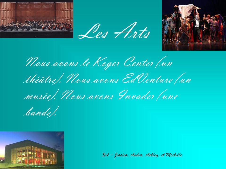 Les Arts Nous avons le Koger Center (un théâtre). Nous avons EdVenture (un musée).