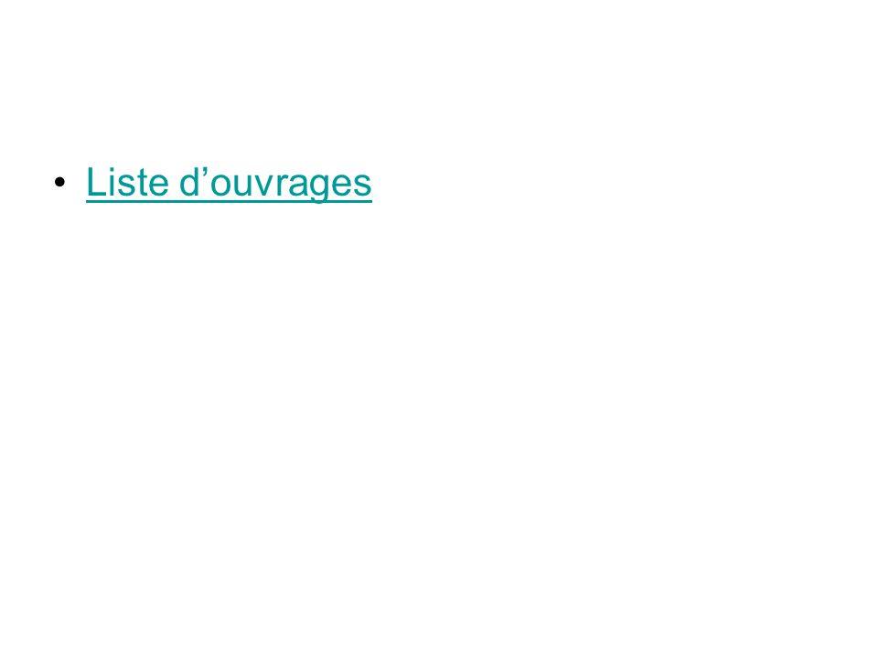Liste douvrages
