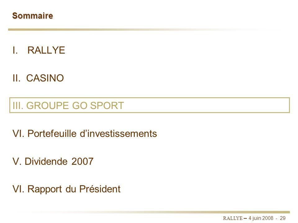 RALLYE – 4 juin 2008 - 28 Conclusion Des fondamentaux solides pour une croissance durable : Un portefeuille dactifs bien positionné grâce au mix de fo