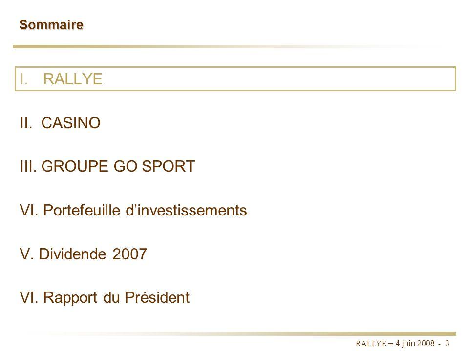 RALLYE – 4 juin 2008 - 2 Rapport du conseil dadministration Rapport spécial des commissaires aux comptes Autorisation de procéder à lattribution dacti