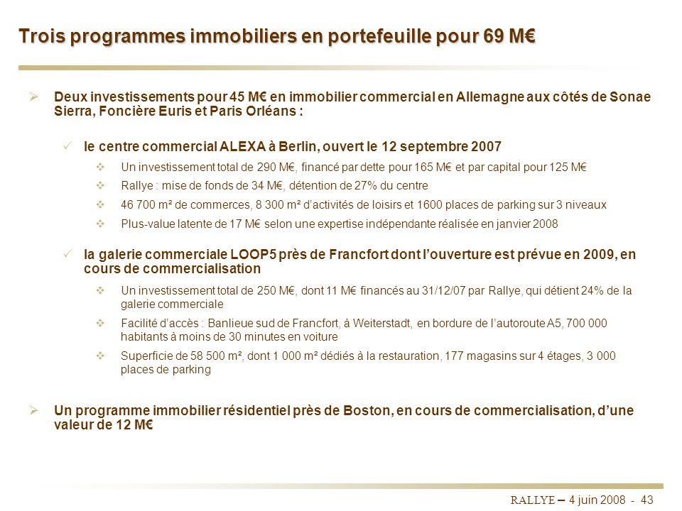 RALLYE – 4 juin 2008 - 42 Principales cessions en 2007 Co-investissement aux côtés de LBO France en 2005 dans lancienne branche des compteurs Schlumbe