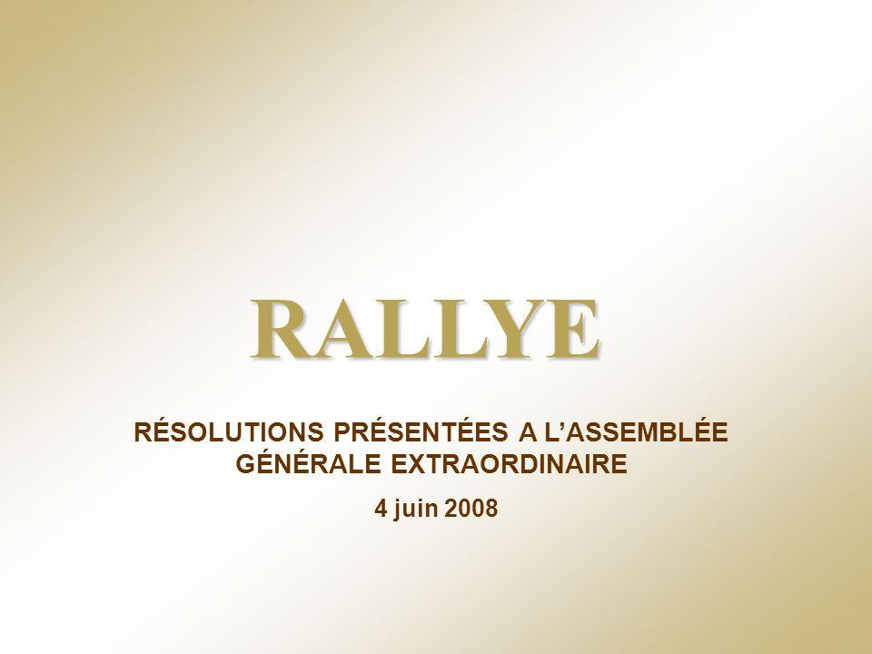 RALLYE – 4 juin 2008 - 61 Dix-neuvième résolution - Autorisation dachat par la société de ses propres actions Renouvellement de lautorisation conférée