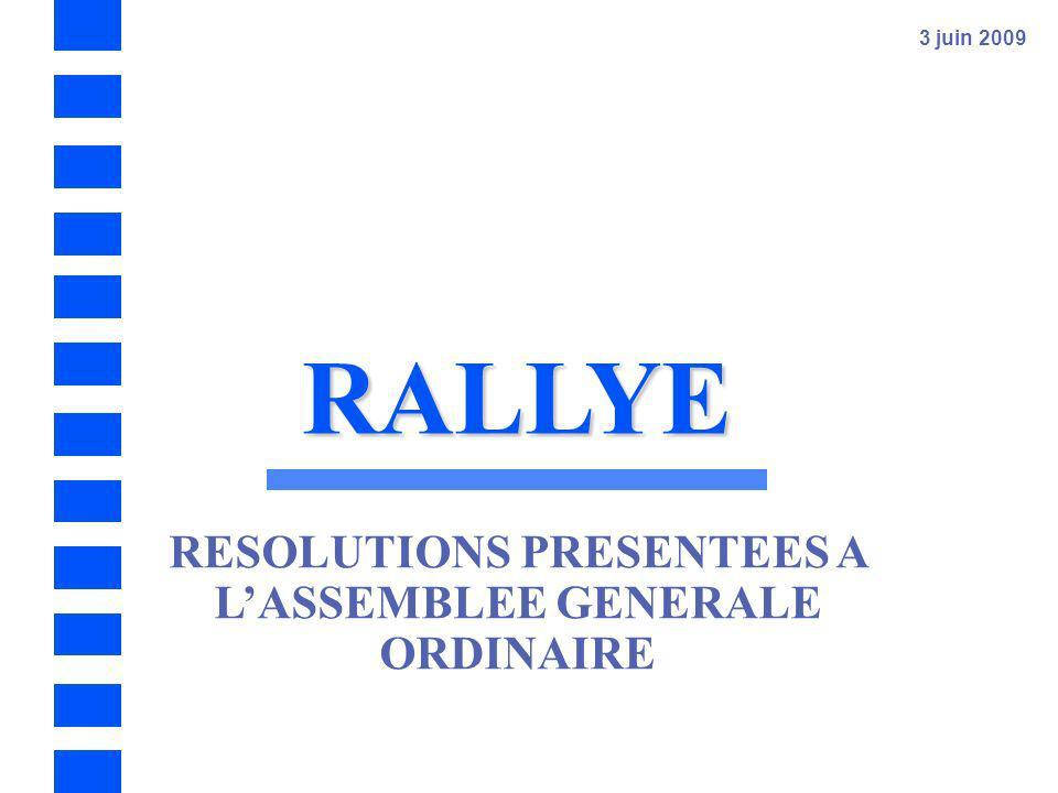 RALLYE 3 juin 2009 Assemblée Générale Ordinaire et Extraordinaire