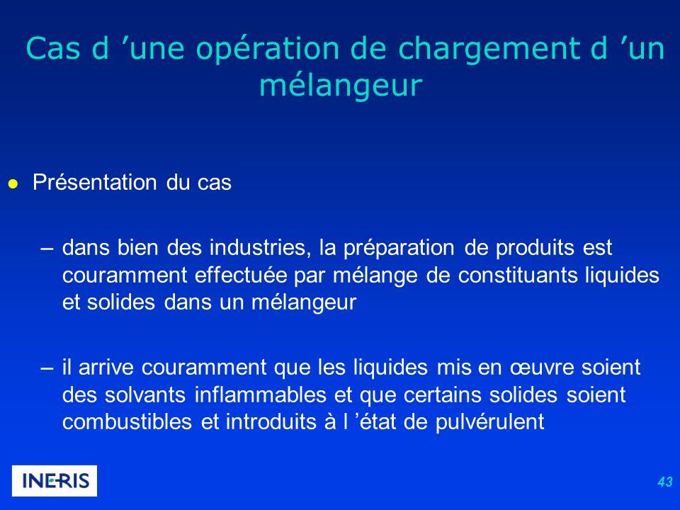 43 l Présentation du cas –dans bien des industries, la préparation de produits est couramment effectuée par mélange de constituants liquides et solide