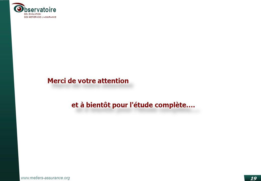 www.metiers-assurance.org bservatoire DE L'EVOLUTION DES METIERS DE L'ASSURANCE 19