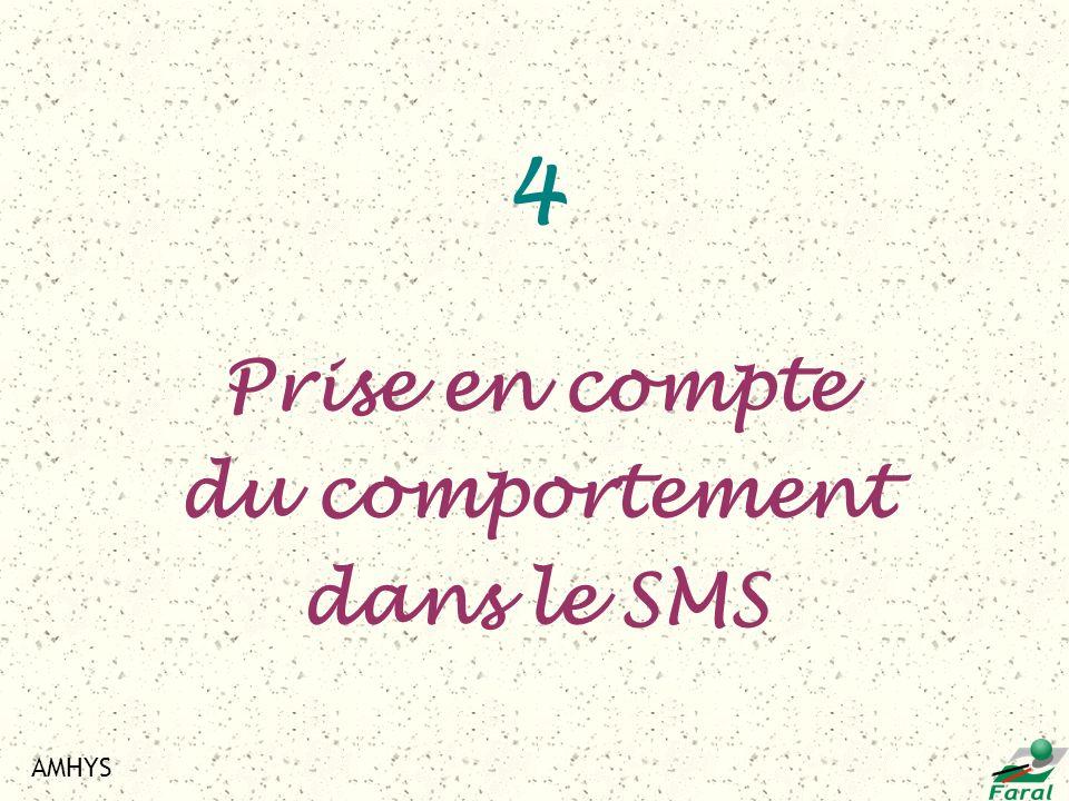AMHYS 4 Prise en compte du comportement dans le SMS