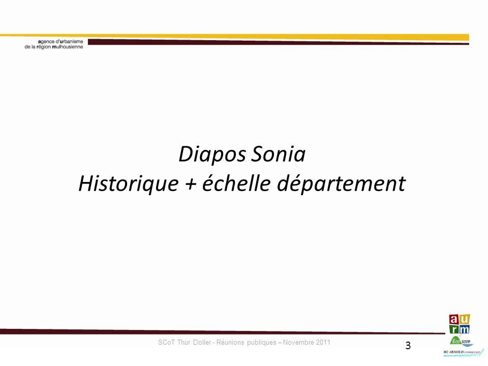 Diapos Sonia Historique + échelle département SCoT Thur Doller - Réunions publiques – Novembre 2011 3