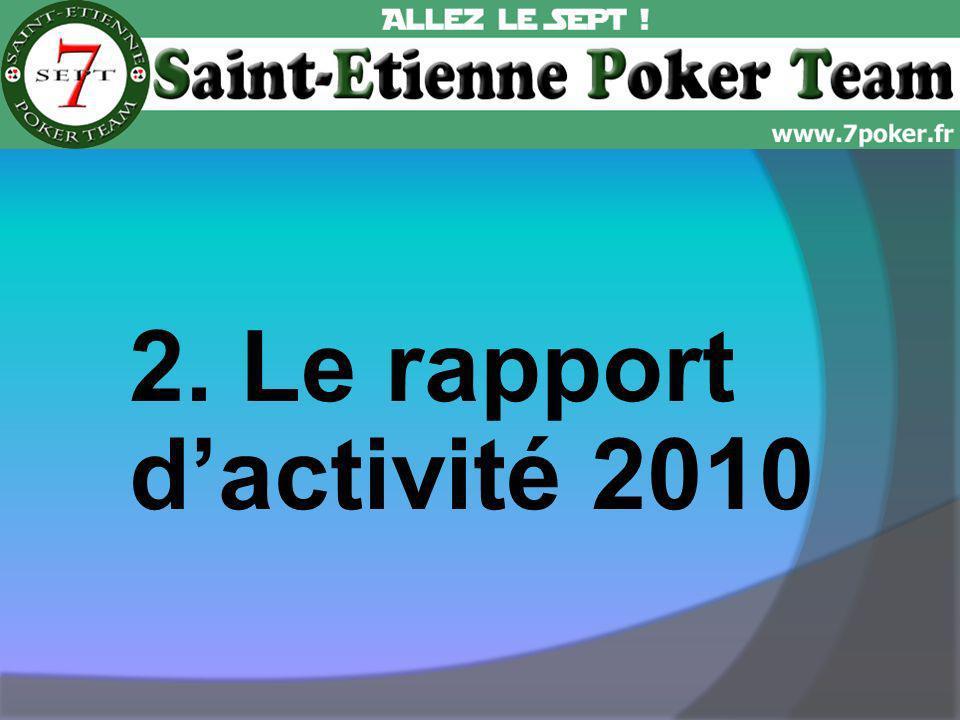 2. Le rapport dactivité 2010