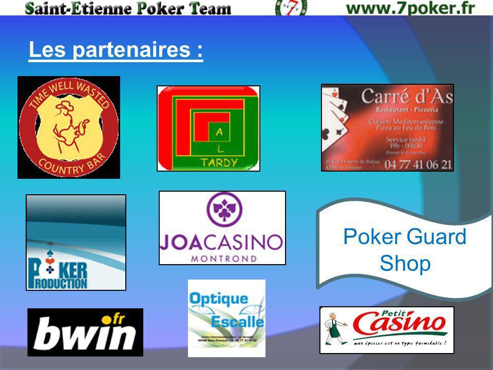 Les partenaires : Poker Guard Shop