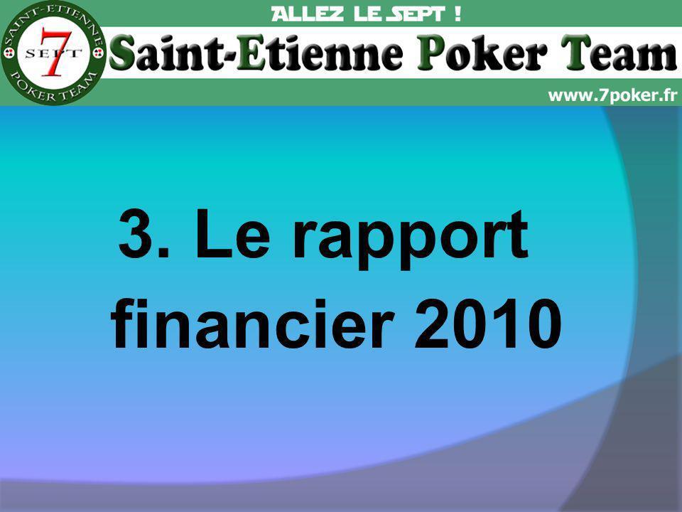 3. Le rapport financier 2010