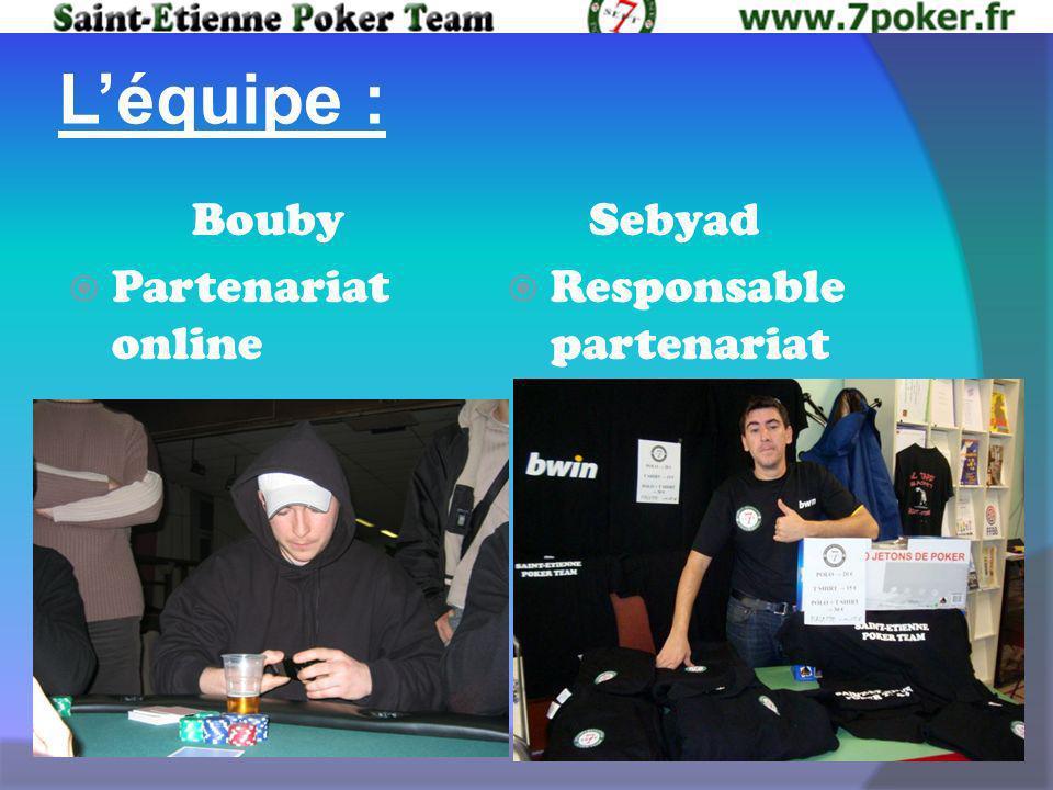 Léquipe : Bouby Partenariat online Sebyad Responsable partenariat