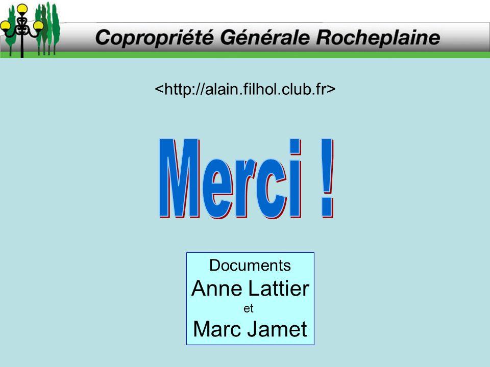 Documents Anne Lattier et Marc Jamet