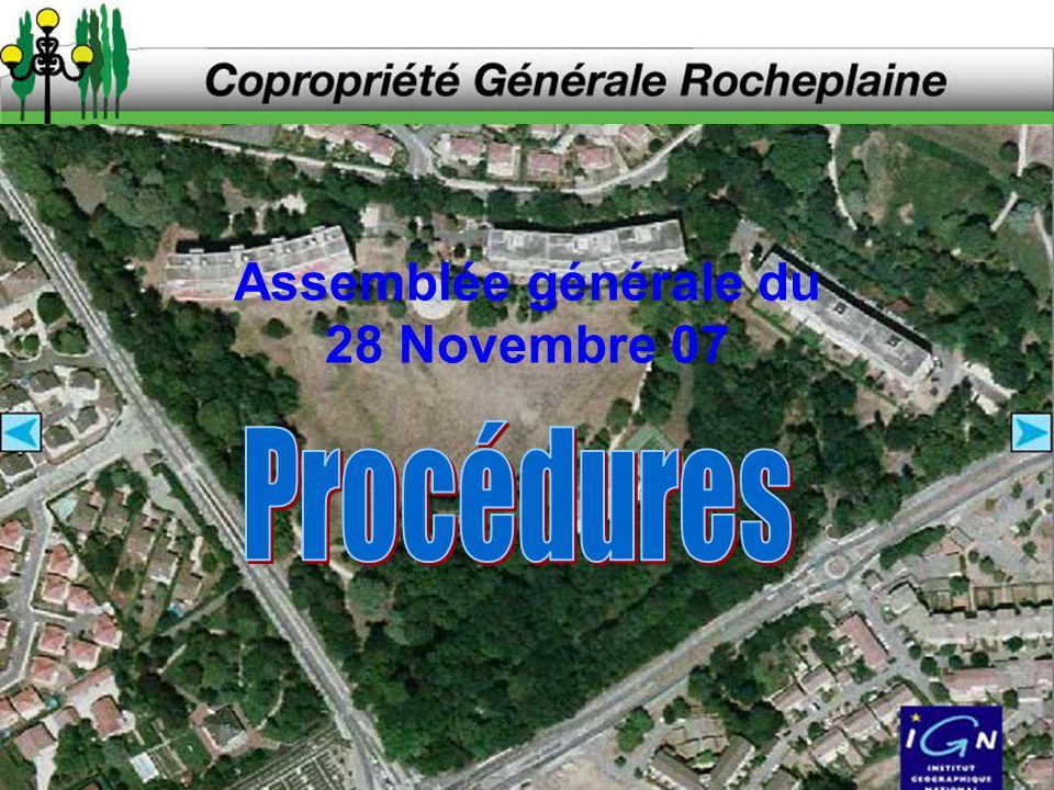 Assemblée générale du 28 Novembre 07