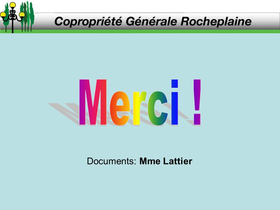 Documents: Mme Lattier