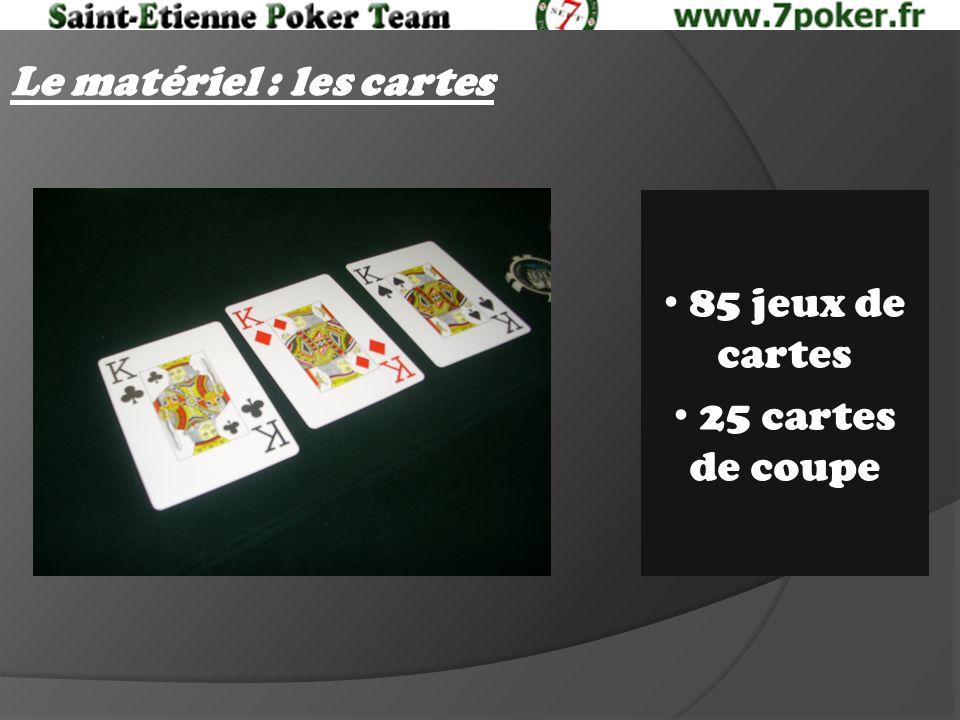 Le matériel : les cartes 85 jeux de cartes 25 cartes de coupe