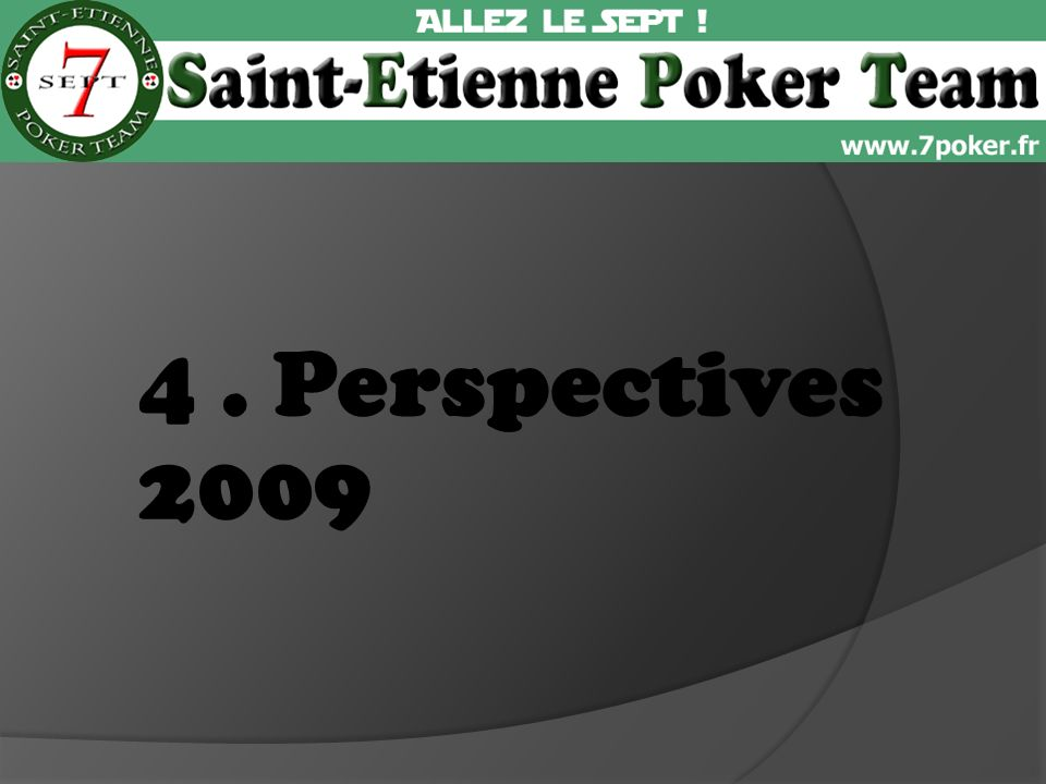 4. Perspectives 2009