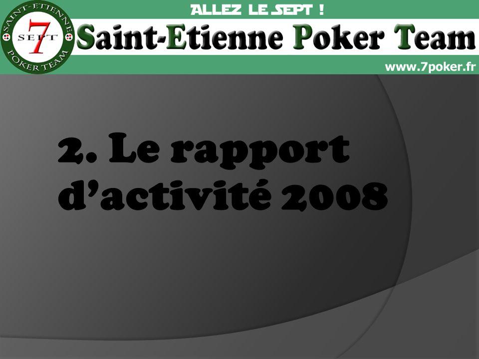 2. Le rapport dactivité 2008