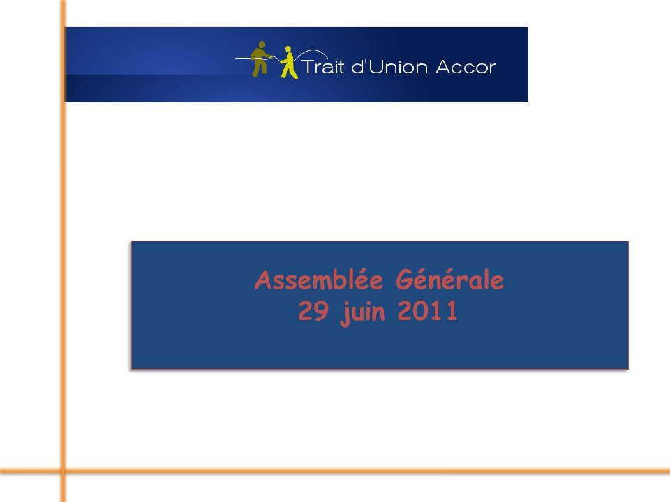 Assemblée Générale 29 juin 2011 Assemblée Générale 29 juin 2011