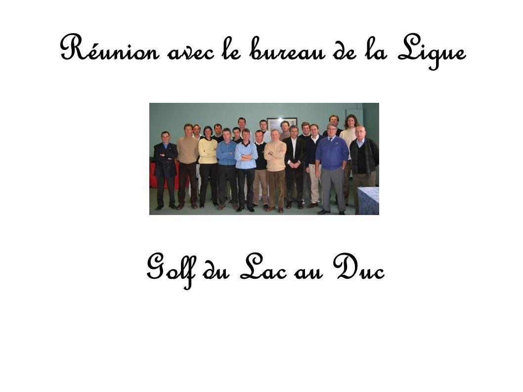 Réunion avec le bureau de la Ligue Golf du Lac au Duc