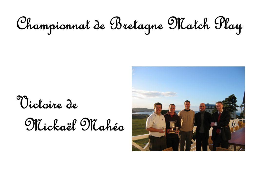 Championnat de Bretagne Match Play Victoire de Mickaël Mahéo