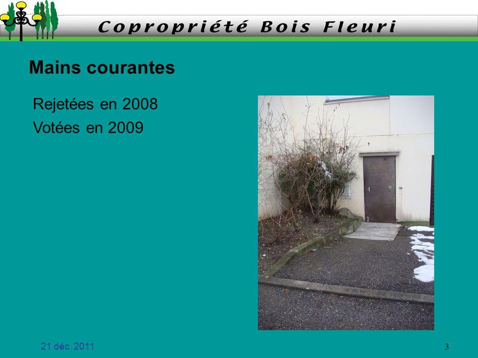 21 déc. 2011 14 Montée 7 cest fait ! Rampe descalier Fuite terrasse de lentrée peinture faite !