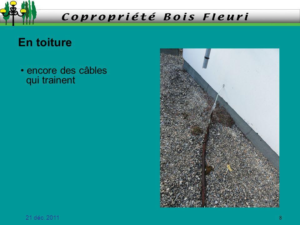 21 déc. 2011 9 encore des câbles qui trainent En toiture écoulements et mousse Fait en 2011