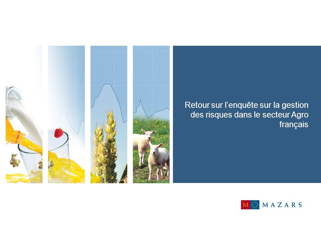 10 Gestion des risques dans les entreprises agro alimentaires Les entreprises agro sont plutôt sensibles à la gestion des risques.