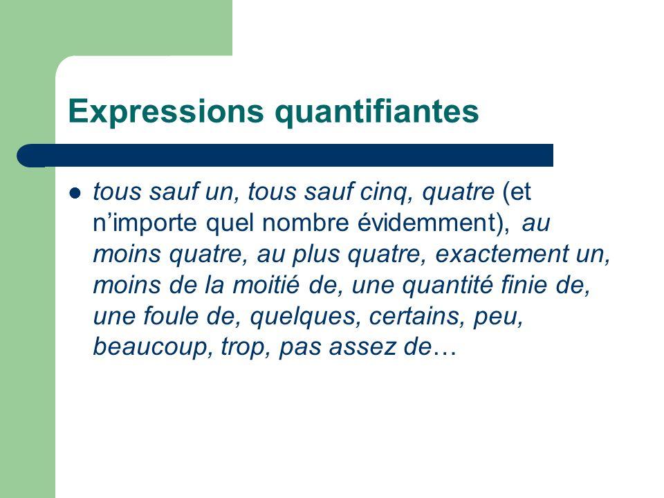 Les quantificateurs frégéens Begriffschrift, 1879 tous les chats sont gris