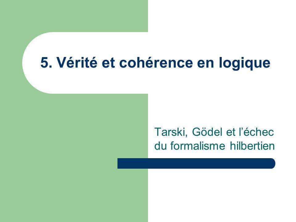2 ème théorème de Gödel Larithmétique est-elle consistante.