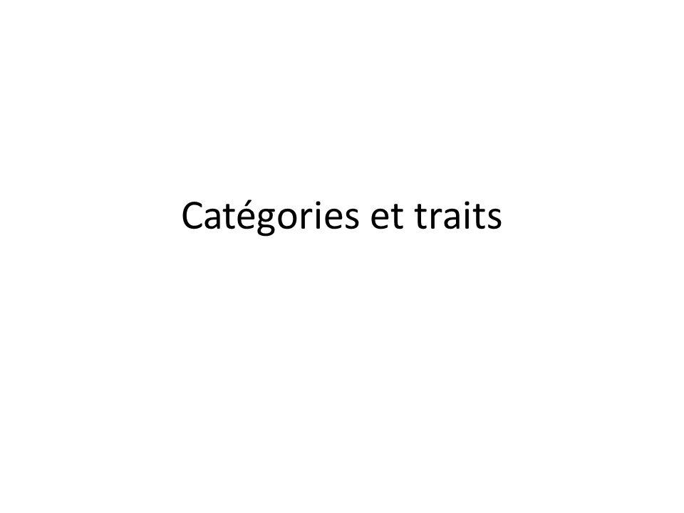 Catégories et traits