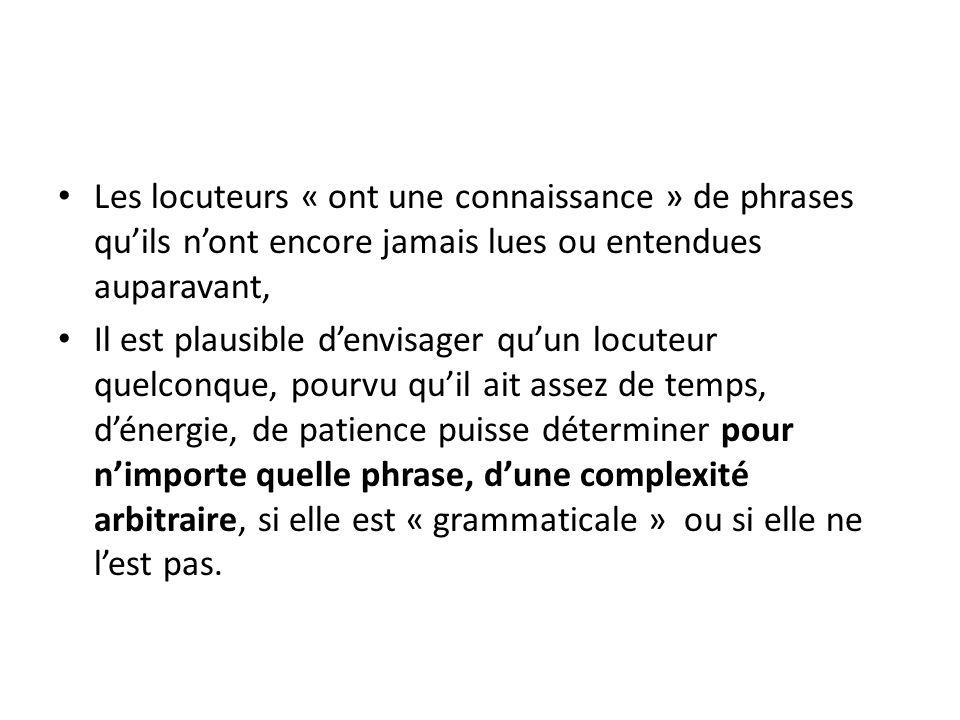 remarque La marque dinflexion verbale en général sintercale entre le sujet et le verbe, soit sous forme dauxiliaire simple (will, do, … en anglais) soit sous forme dun auxiliaire composé avec des modalités (will must, will be able to, … en anglais, peut, doit, va, … en français) soit sous forme de suffixe adjoint au verbe principal (cas en général du français par exemple), On peut obtenir ce résultat si le SN sujet se déplace (dune position interne à V vers la position spec de IP)