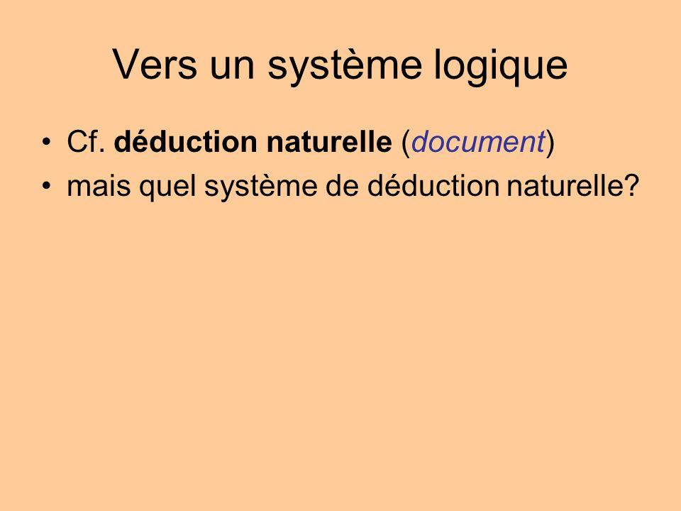 Vers un système logique Cf.