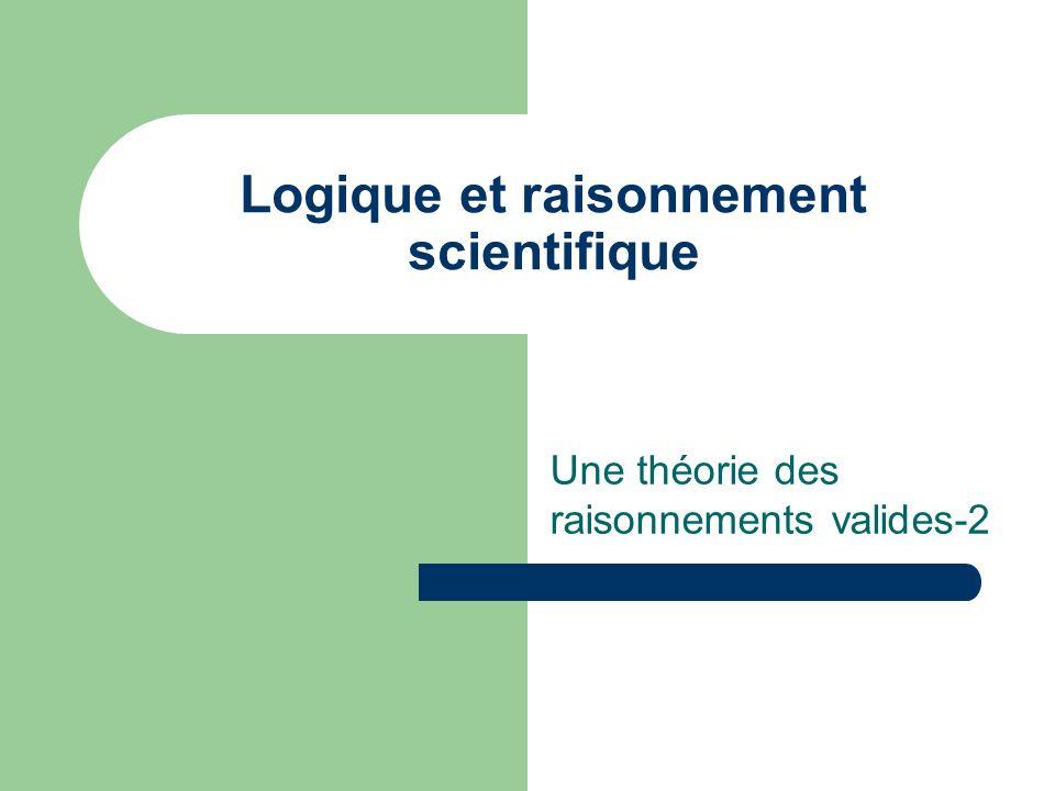 Logique et raisonnement scientifique Une théorie des raisonnements valides-2