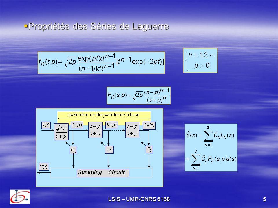 LSIS – UMR-CNRS 616816 où : Considérons la variation de entre les instants t et t+1 on a: où :
