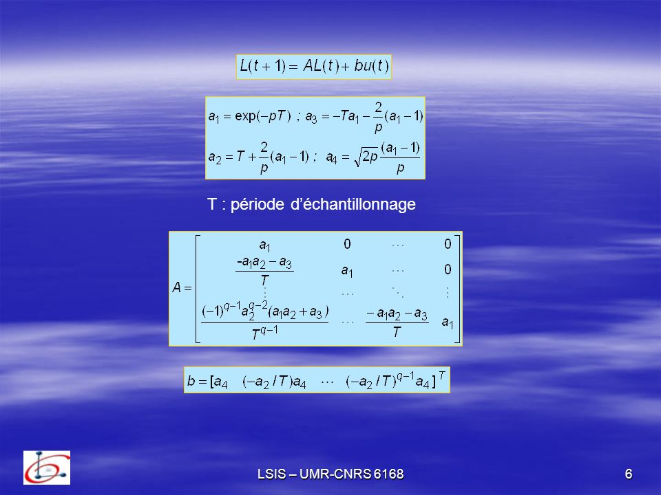 LSIS – UMR-CNRS 616817 Définition Une séquence réelle positive est dite asymptotiquement faible en moyenne si (AFM) if Lalgorithme dadaptation proposé possède les propriétés suivantes - Il existe un scalaire positif tel que : on a Lemme