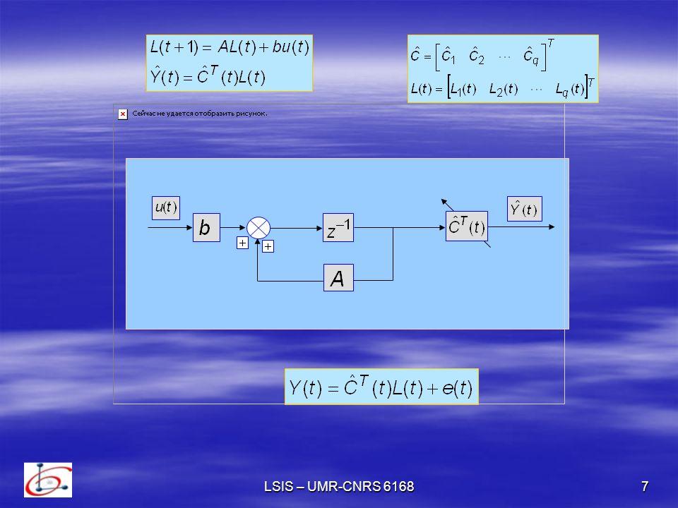 8 Algorithme destimation Algorithme destimation I – Le vecteur paramètre de projection On définit Le modèle normalisé devient : où : De point de vue estimation, le modèle nest pas convenable si le terme derreur e(t) nest pas borné