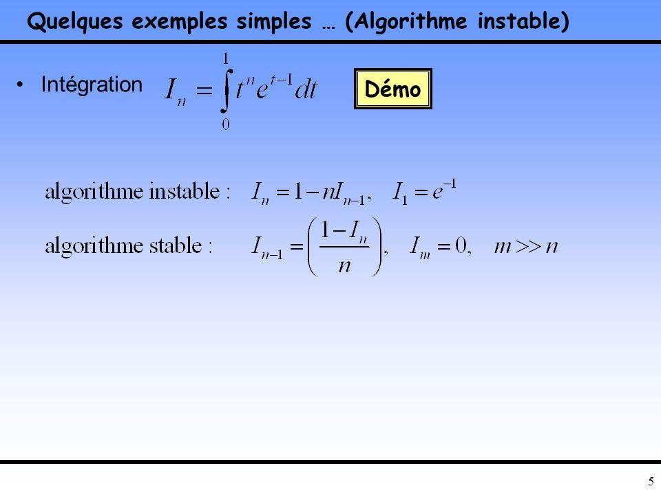 15 Amélioration de la stabilité des algorithmes (1/4) Bibliothèques de calculs scientifiques –Slicot, lapack, blas … –Harwell, Imsl, Nag –TOMS le site netlib.org le site niconet http://www.win.tue.nl/niconet/ les livres de N.