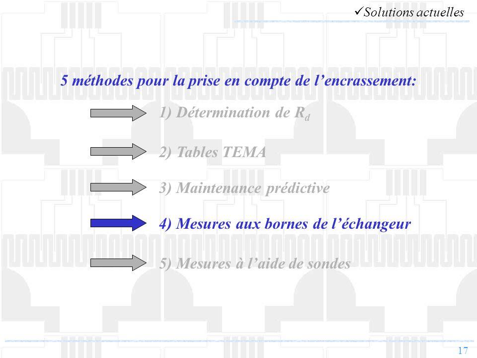 17 5 méthodes pour la prise en compte de lencrassement: 1) Détermination de R d 2) Tables TEMA 3) Maintenance prédictive 4) Mesures aux bornes de léch