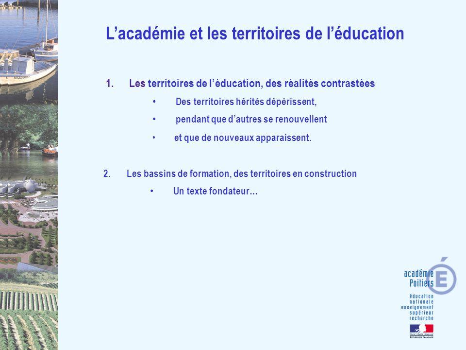 Lacadémie et les territoires de léducation 1.