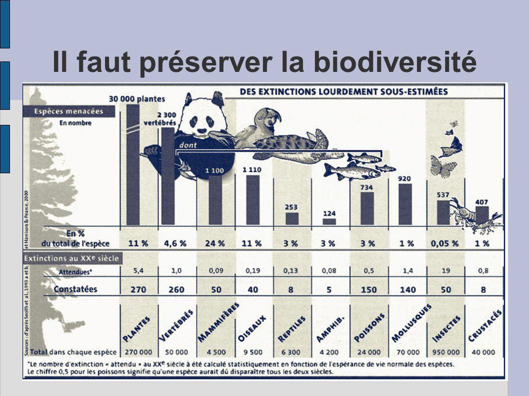 Il faut préserver la biodiversité