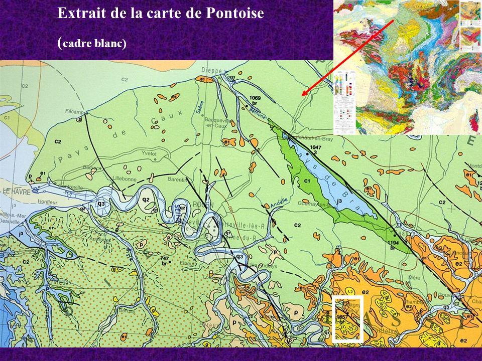 Extrait de la carte de Pontoise ( cadre blanc)