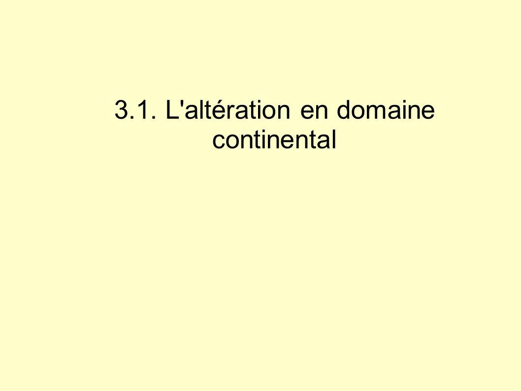 3.1. L'altération en domaine continental