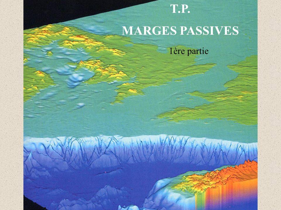 Vitesses de propagation des ondes P mesurées aux abords d une marge passive Vitesse de conduction des ondes P en km.s -1 selon la nature des matériaux traversés.