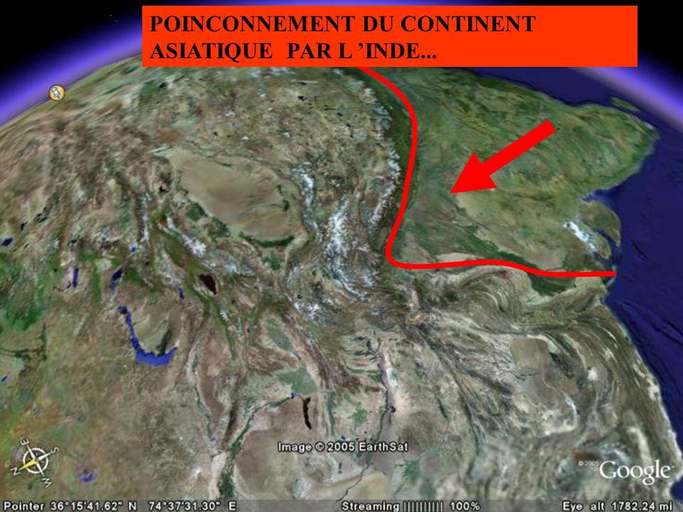 POINCONNEMENT DU CONTINENT ASIATIQUE PAR L INDE...