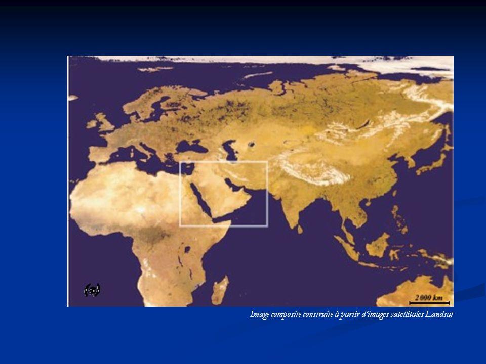 Image composite construite à partir dimages satellitales Landsat