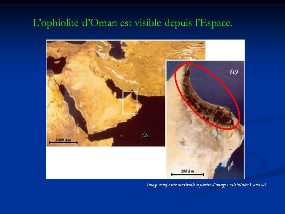 Lophiolite dOman est visible depuis lEspace.